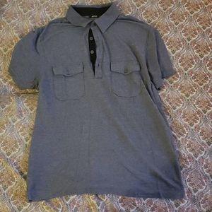 Apt 9 grey dress pool shirt